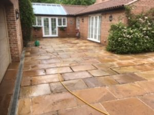 a cleaner patio in grantham